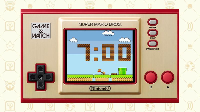 Όπως υποδηλώνει το όνομα, η κονσόλα Game & Watch είναι επίσης και ρολόι