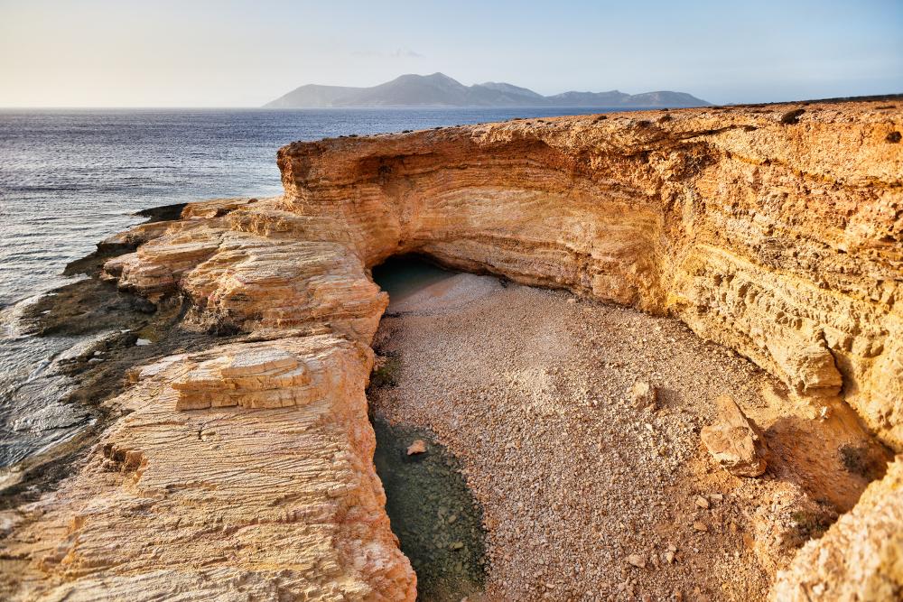 Γάλα παραλία Κουφονήσια χωρίς νερό