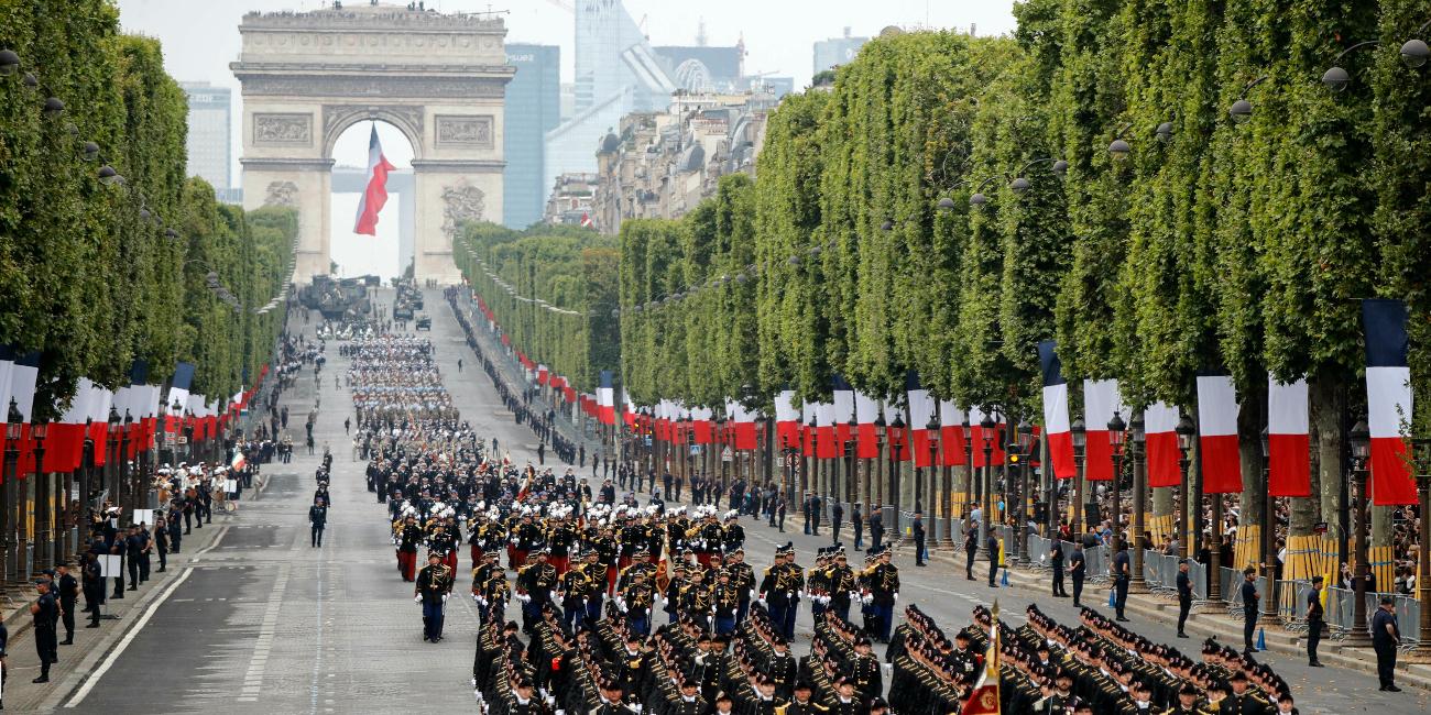 4.300 στρατιώτες συμμετείχαν στην παρέλαση.