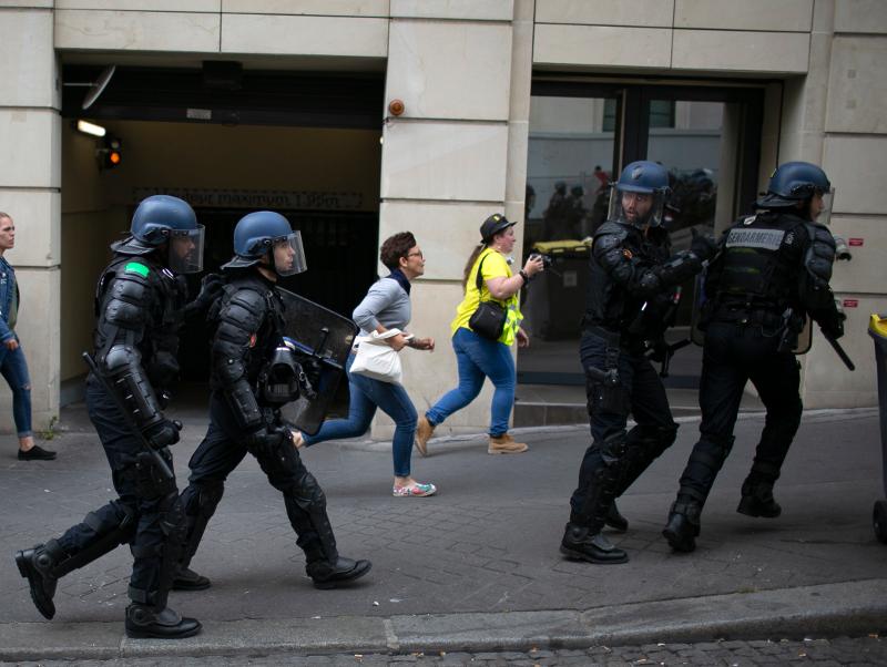 Βίαια επεισόδια στη Γαλλία / Φωτογραφία: AP
