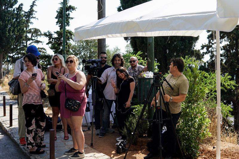 Στην εκκλησία όπου θα γίνει ο γάμος Μπαλατσινού - Κικίλια / Φωτογραφία: EUROKINISSI