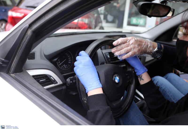 Δίπλωμα οδήγησης με μάσκες και γάντια