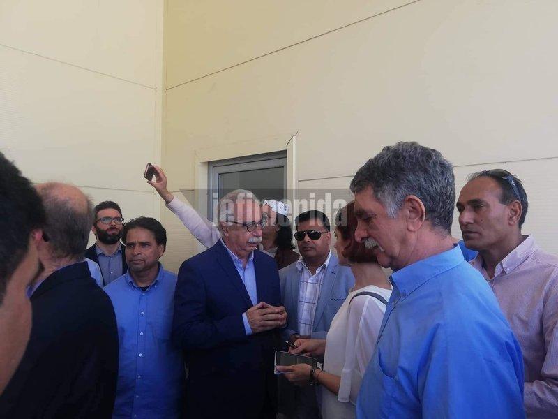 Ο Κώστας Γαβρόγλου στα εγκαίνια του Ισλαμικού Τεμένους στην Αθήνα