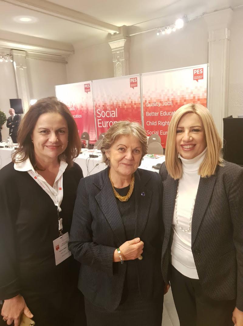 Η πρόεδρος του ΚΙΝΑΛ με τη νέα επίτροπο από την Πορτογαλία, Ελίζα Φερέιρα - Αριστερά η Συλβάνα Ράπτη