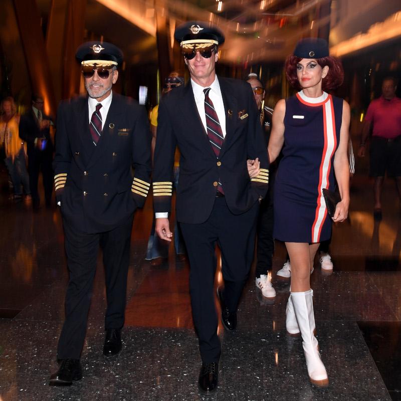 Το πάρτι του 2018 όπου Τζορτζ Κλούνεϊ και Ραντ Γκέρμπερ ήταν ντυμένοι πιλότοι