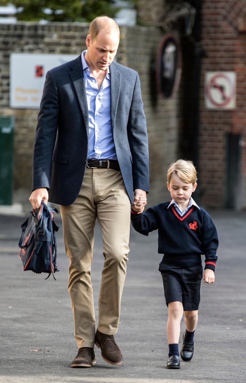 Πρίγκιπας Τζορτζ πρώτη ημέρα στο σχολείο με την συνοδεία του πατέρα του