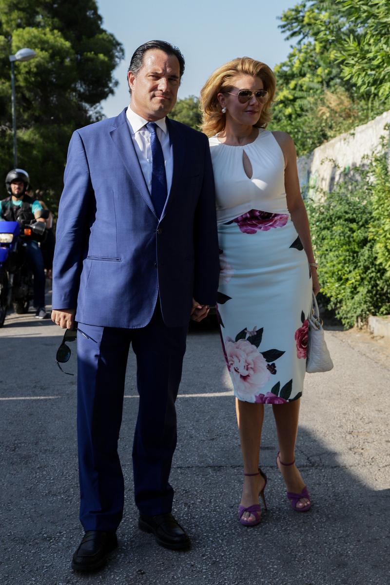Ο Άδωνις Γεωργιάδης με την Ευγενία Μανωλίδου / Φωτογραφία: EUROKINISSI