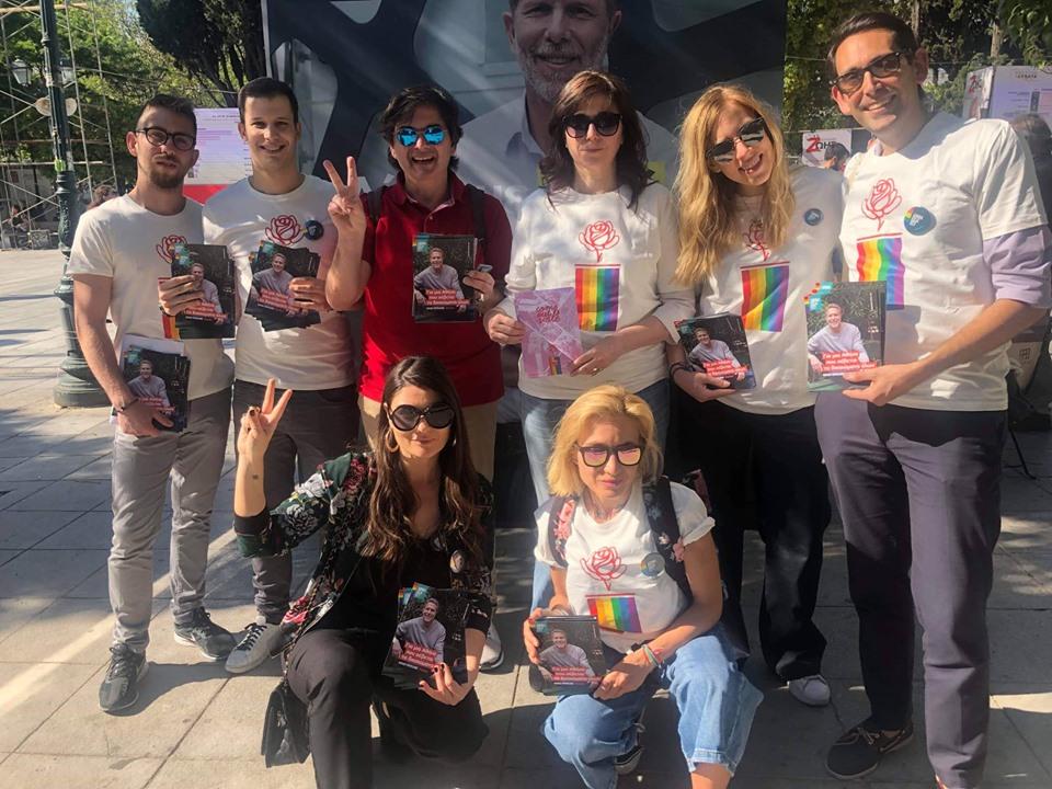 Υποψήφιοι δημοτικοί και διαμερισματικοί σύμβουλοι του συνδυασμού ΑΘΗΝΑ ΕΙΣΑΙ ΕΣΥ, μαζί με εθελοντές, ενημέρωσαν για τα ζητήματα που αφορούν την κοινότητα ΛΟΑΤΚΙ+.