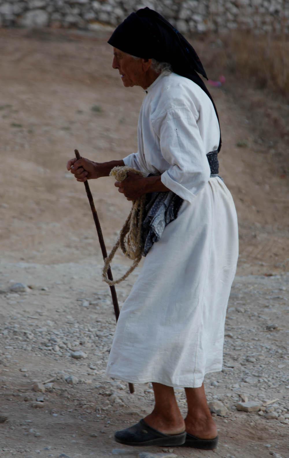 Κάτοικος του χωριού Όλυμπος στην Κάρπαθο