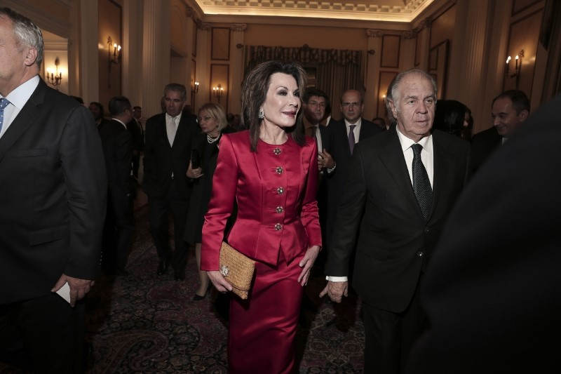 Η Γιάννα Αγγελοπούλου με τον σύζυγό της Θεόδωρο Αγγελόπουλο