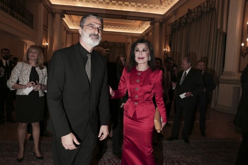 Η κυρία Αγγελοπούλου με τον Γιώργο Κουμεντάκη