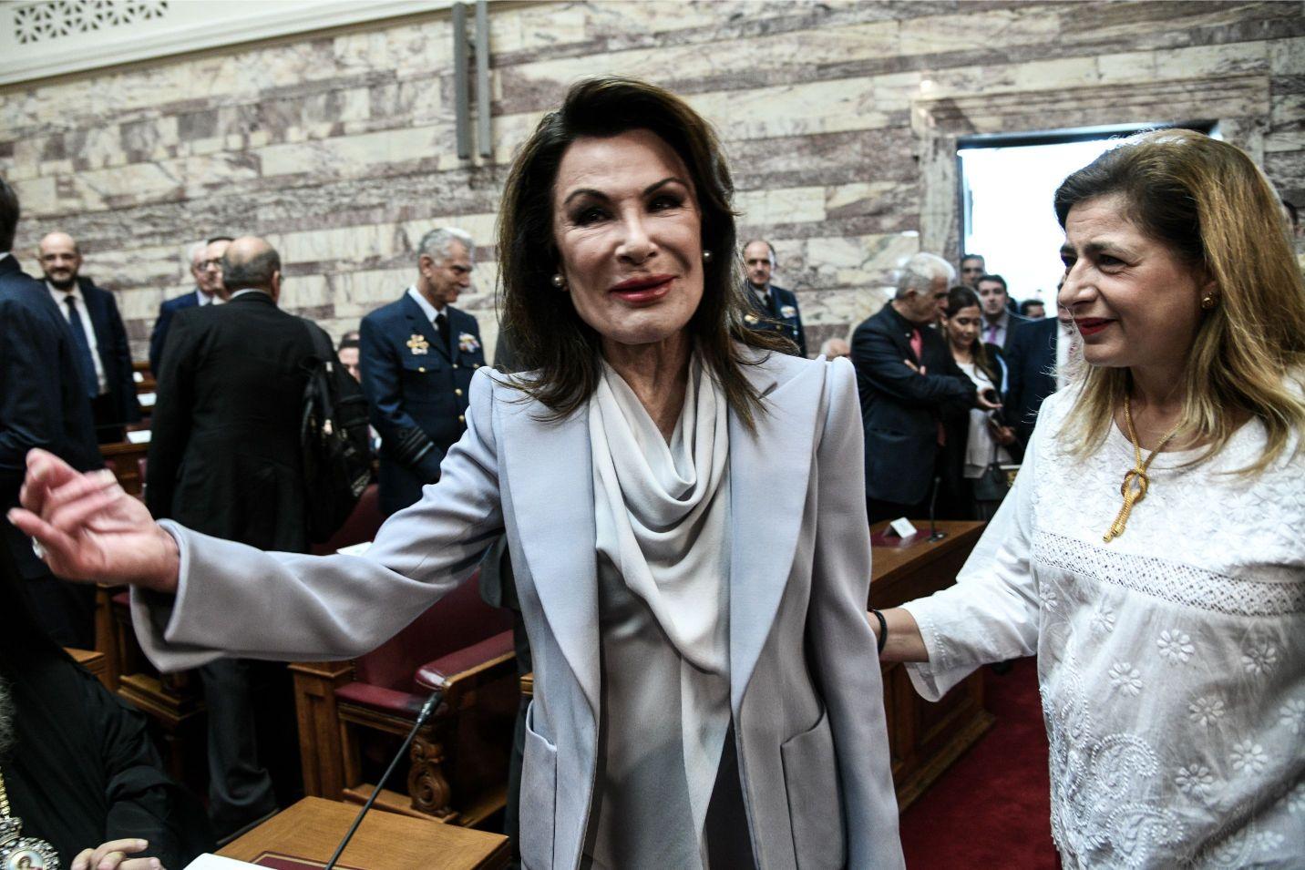 Η  Γιάννα Αγγελοπούλου στη Βουλή