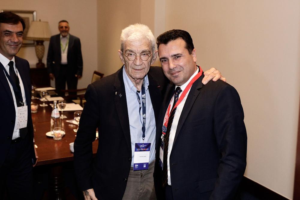 Γιάννης Μπουτάρης και Ζόραν Ζάεφ συναντήθηκαν στο περιθώριο του Thessaloniki Summit