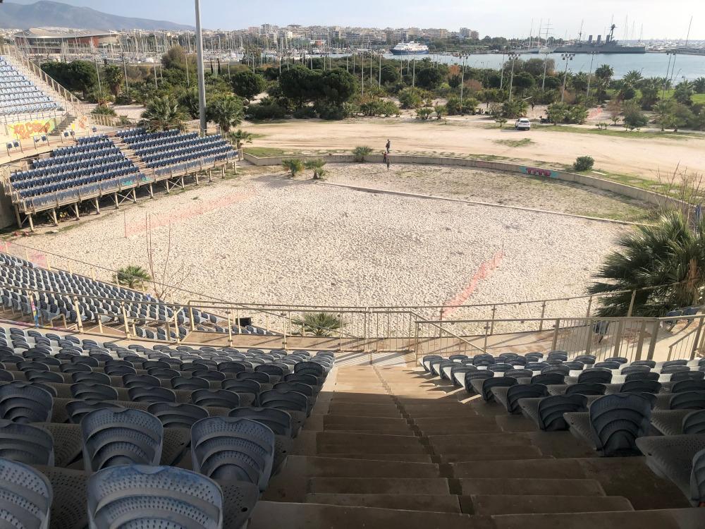 Πανοραμική εικόνα του γηπέδου beach volley