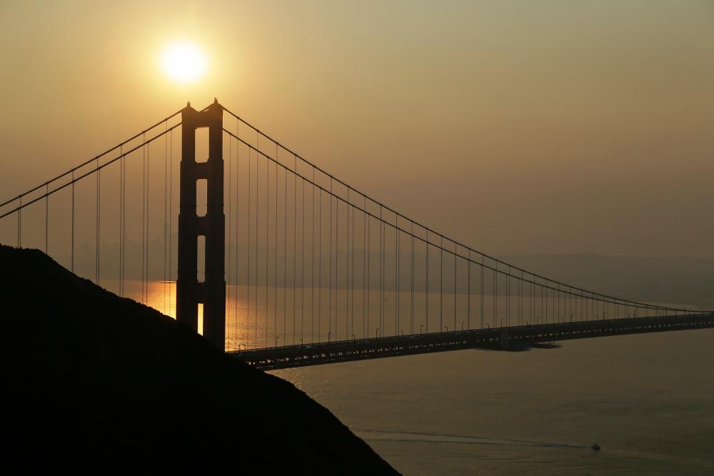Η γέφυρα Golden Gate που αποτελεί σήμα κατατεθέν του Σαν Φρνασίσκο
