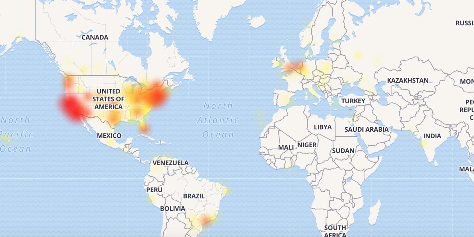 Ο χάρτης που δείχνει σε ποιες περιοχές αντιμετωπίζουν προβλήματα οι χρήστες της Google