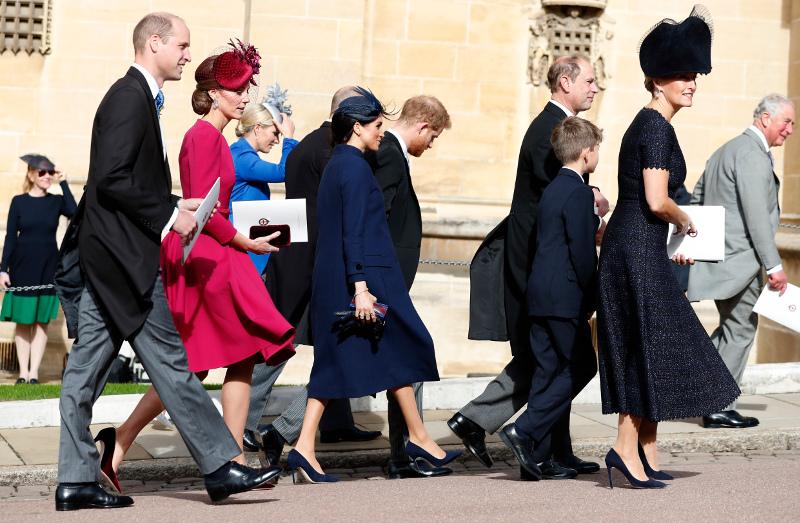 Πρίγκιπας Γουίλιαμ, Κέιτ Μίντλετον, Μέγκαν Μαρκλ στο γάμο της Ευγενίας