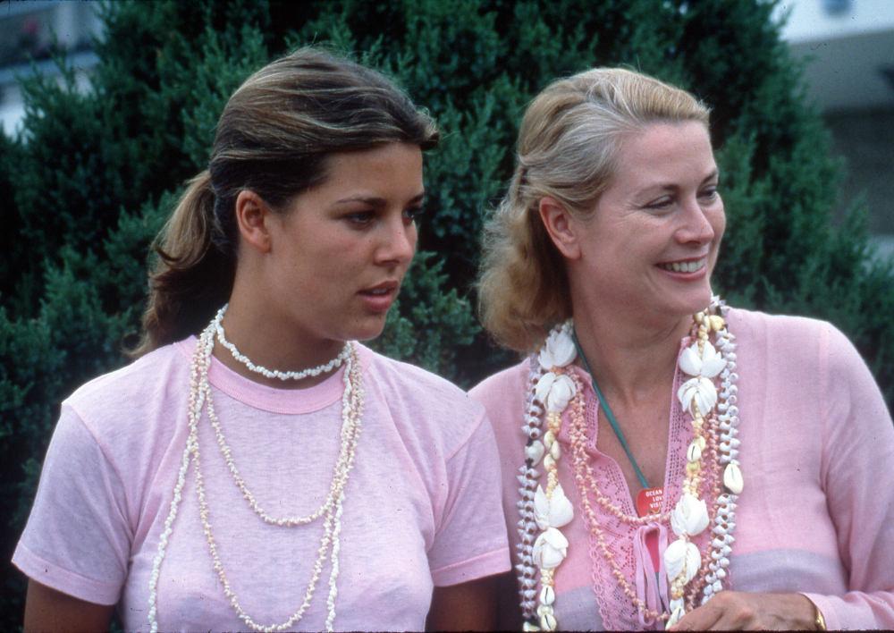 Η Γκρέις Κέλι με την μεγαλύτερη κόρη της Καρολίνα του Μονακό