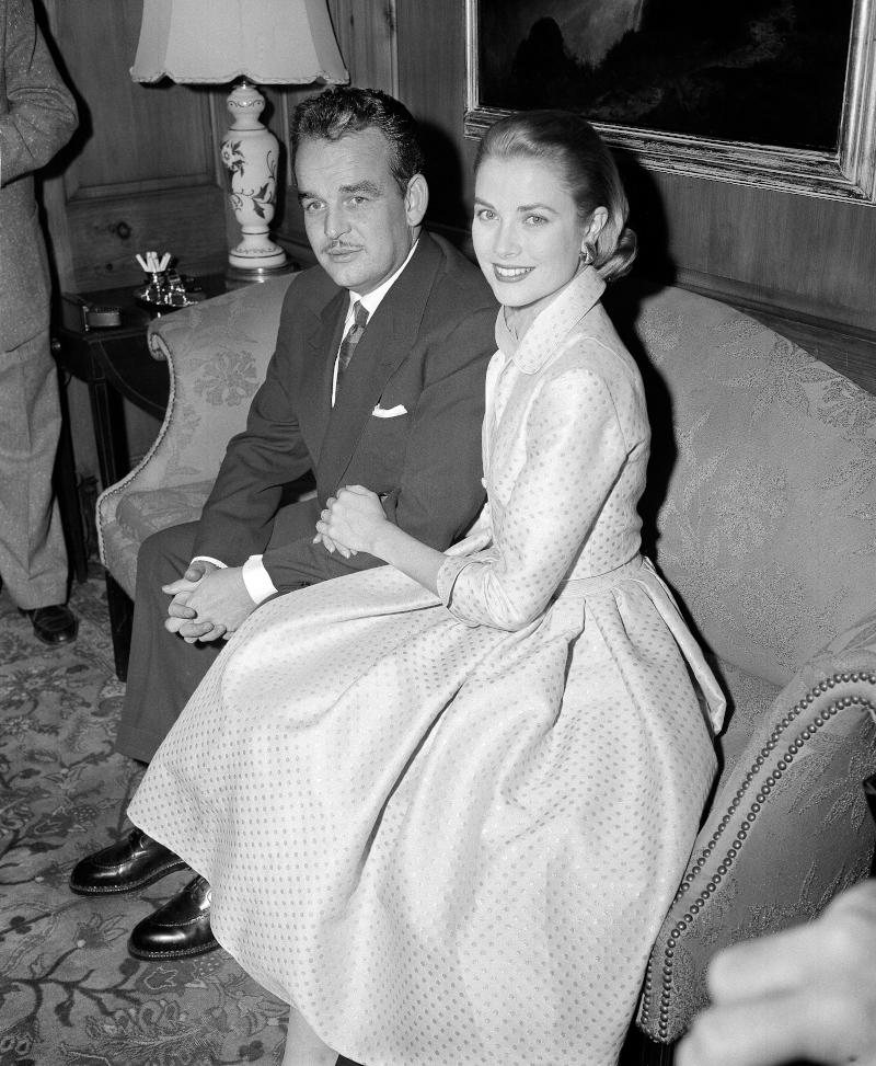 Η Γκρέις Κέλι με τον σύζυγό της, πρίγκιπα Ρενιέ του Μονακό
