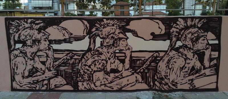 Στον Βόλο γκράφιτι για την Αργοναυτική Εκστρατεία
