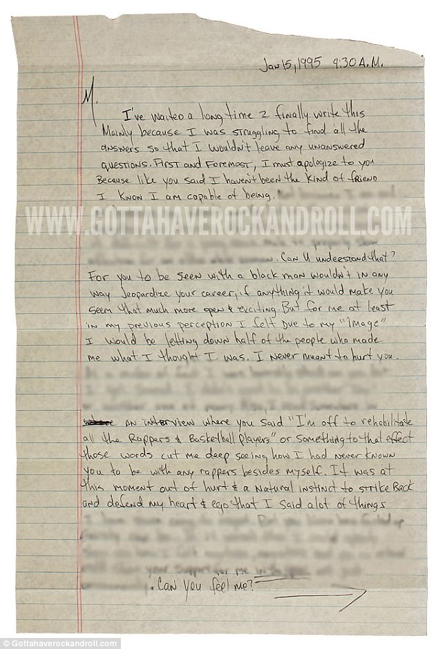 Η περιβοήτη ερωτική επιστολή στη Μαντόνα