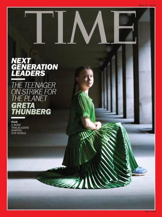 Η Γκρέτα Τούνμπεργκ στο εξώφυλλο του περιοδικού TIME