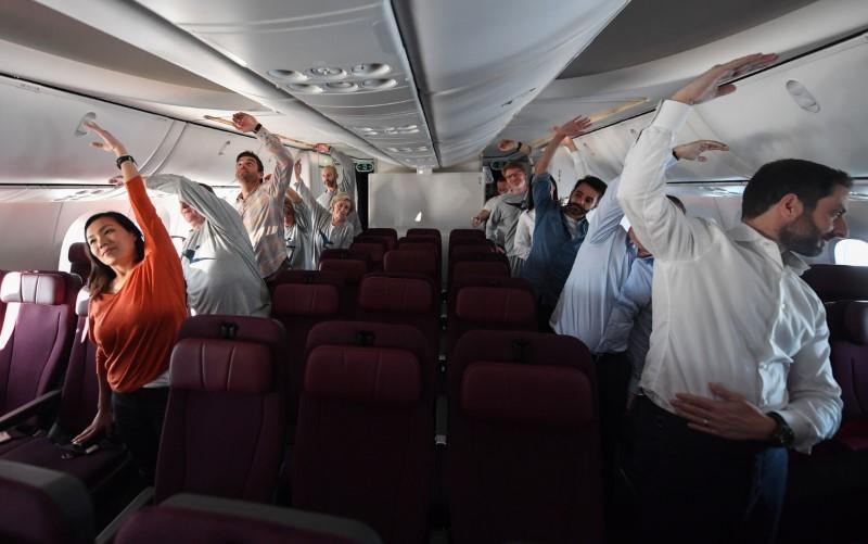 Γυμναστική σε αεροπλάνο