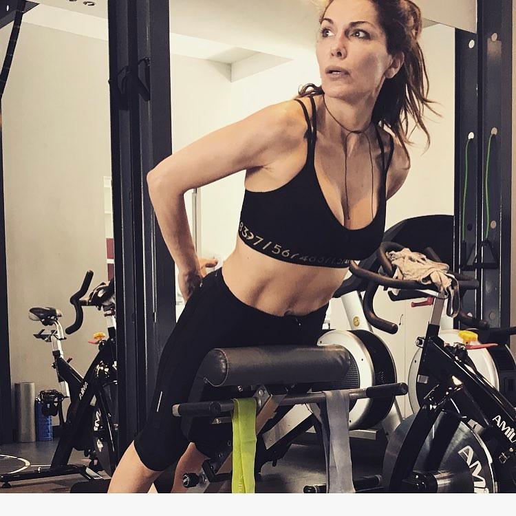 Δέσποινα Βανδή στο γυμναστήριο