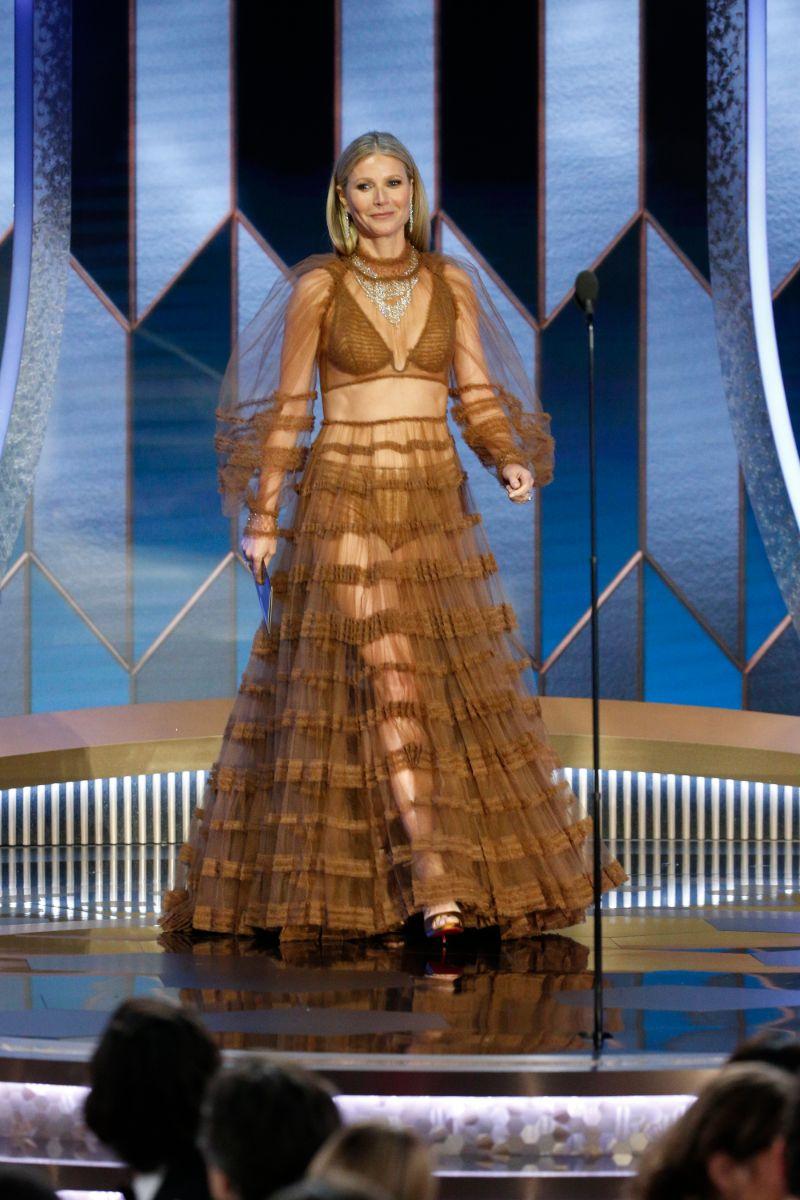 Χρυσές Σφαίρες 2020 Γκουίνεθ Πάλτρρου διάφανο φόρεμα