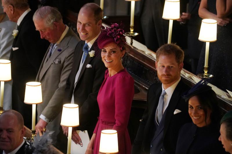 Μέγκαν Μαρκλ, πρίγκιπας Χάρι, Κέιτ Μίντλετον και πρίγκιπας Γουίλιαμ στον βασιλικό γάμο της πριγκίπισσας Ευγενίας