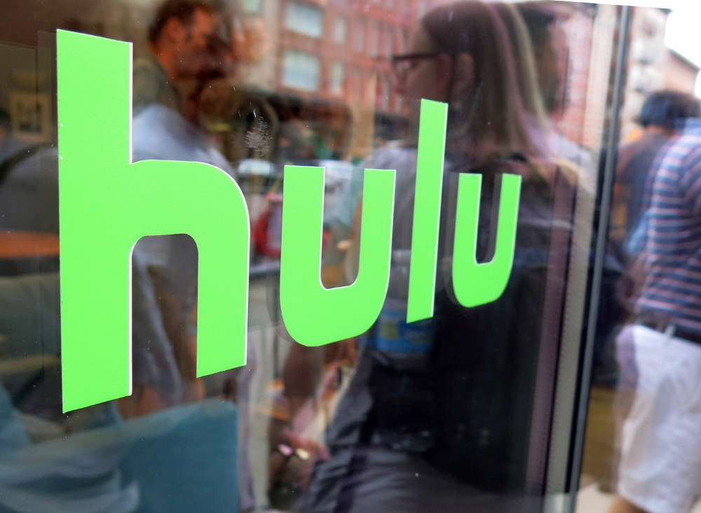 Βιτρίνα καταστήματος με το λογότυπο της Hulu