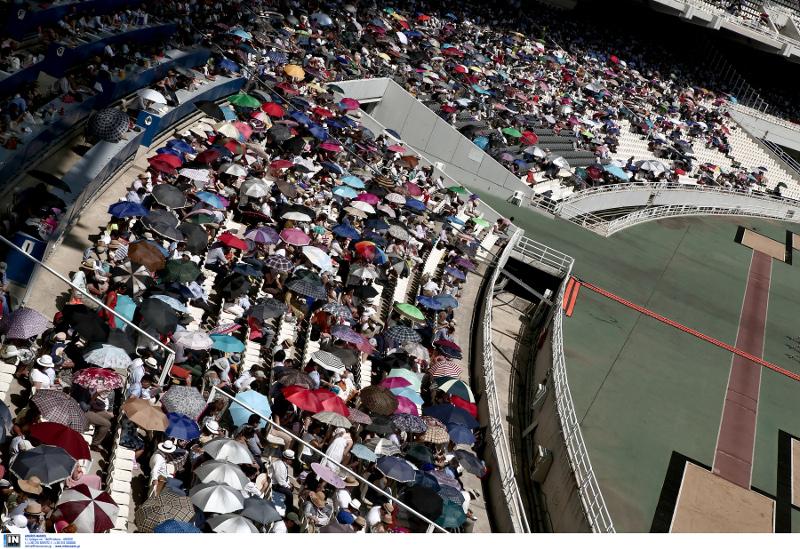 Το ΟΑΚΑ γεμάτο από Μάρτυρες του Ιεχωβά / Φωτογραφία: INTIME NEWS
