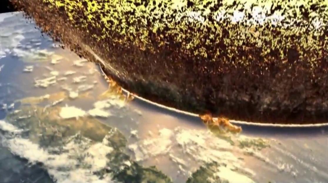 Ένας πελώριος τοίχος φωτιάς θα εξαπλωθεί προς όλες τις κατευθύνσεις καταβροχθίζοντας κάθε μορφή ζωής στη Γη, σύμφωνα με το σενάριο.