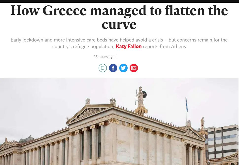Το δημοσίευμα της Indipendent για την Ελλάδα