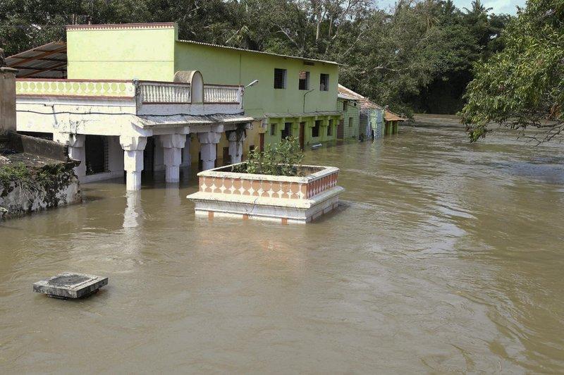 Πλημμύρισαν σπίτια στην Ινδία