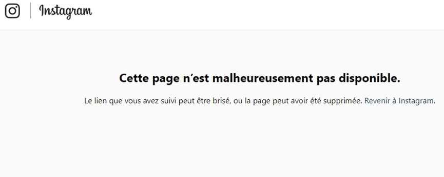 Η αναζήτηση στο Instagram με το όνομα της Αμαλίας Κωστοπούλου βγάζει πως ο λογαριασμός αυτός ενδέχεται να έχει διακοπεί