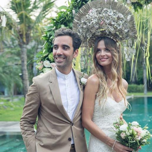 Ιωάννα Ντεντή νύφη στο γάμο της