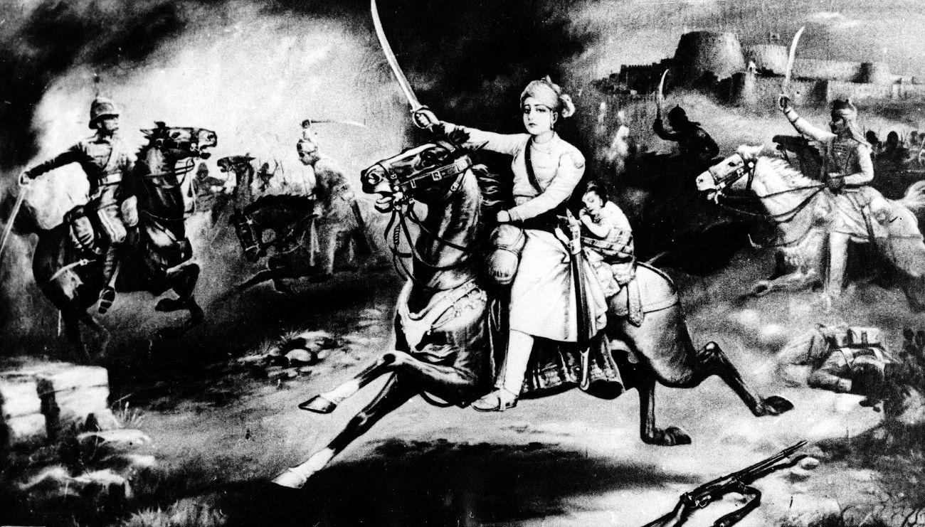 Ασπρόμαυρος πίνακας απεικονίζει την Ιωάννα της Λωραίνης
