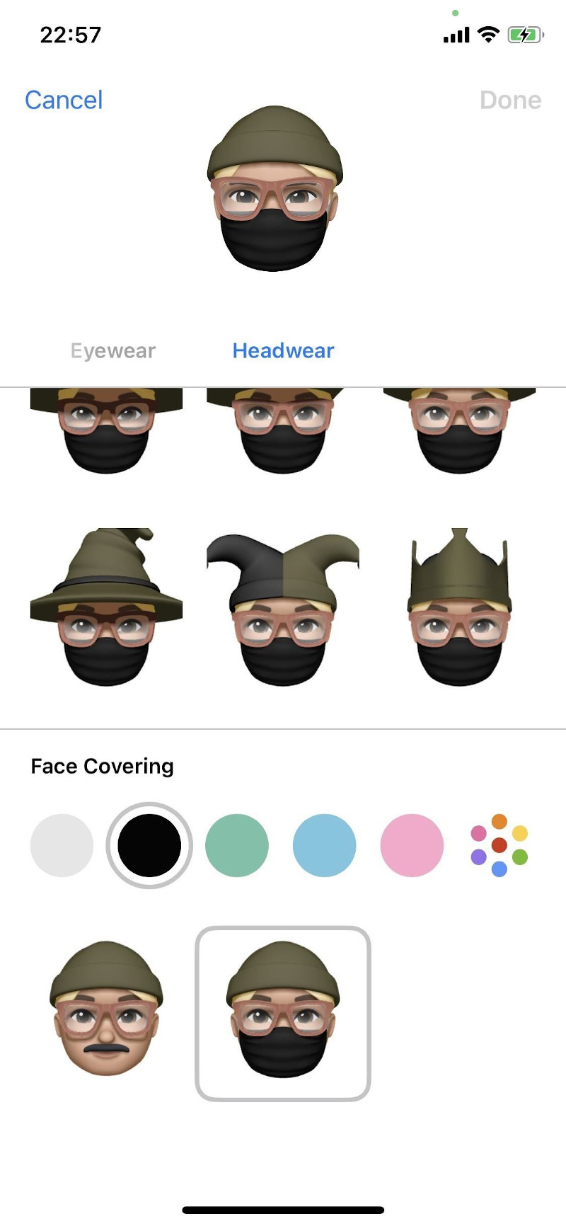 Αλλάξτε το avatar Φορέστε του και μάσκα