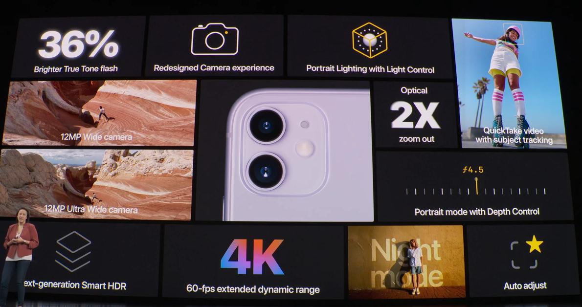 Τα iPhone11 διαθέτουν εξελιγμένες κάμερες και Night Mode που θα ενεργοποιείται αυτόματα ώστε το τηλέφωνο να τραβάει εξαιρετικές φωτογραφίες ακόμη και σε συνθήκες χαμηλού φωτισμού.