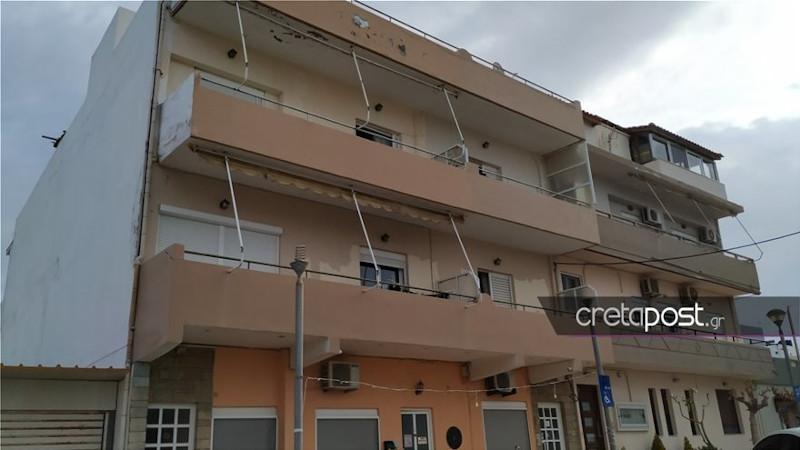 Το σπίτι που διαπράχθηκε το έγκλημα στο Ηράκλειο Κρήτης