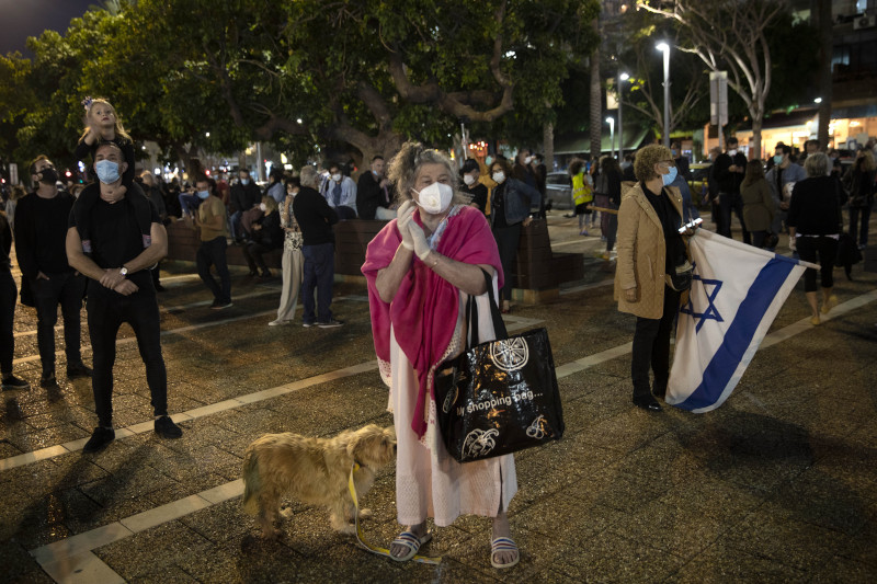 Μαζική ήταν η συμμετοχή στη διαδήλωση / Φωτογραφία: ΑΡ