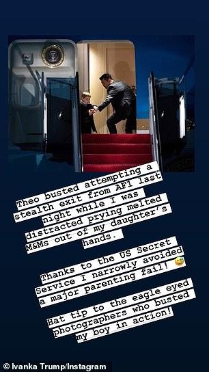 Η Ιβάνκα Τραμπ εξήγησε τι έκανε εκείνη την ώρα και πέταξε και την σπόντα της στους φωτογράφους που απαθανάτισαν την σκηνή/Φωτογραφία: Instagram/ ivankatrump