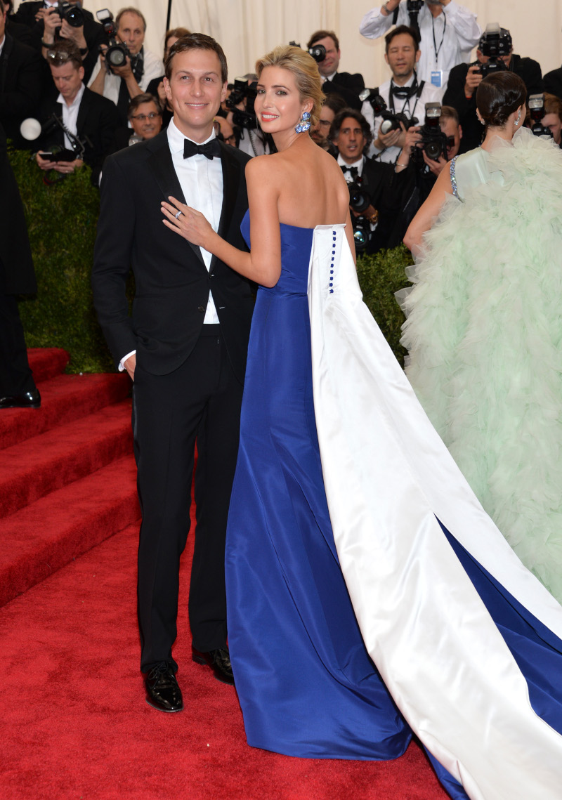 H Ιβάνκα Τραμπ με τον σύζυγό της, Τζάρεντ Κούσνερ στο Met Gala