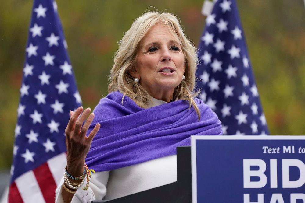 Η Τζιλ Μπάιντεν συμμετείχε ενεργά στην προεκλογική εκστρατεία του συζύγου της