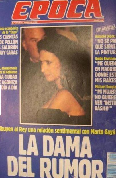 Το περιοδικό l'Epoca τόλμησε να δώσει ένα όνομα στην φημολογούμενη ερωμένη του βασιλιά Χουάν Κάρλος, το 1992
