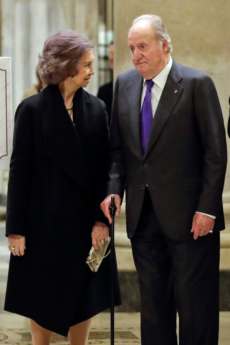 Ο πρώην βασιλιάς της Ισπανίας Χουάν Κάρλος με την σύζυγό του, Σοφία