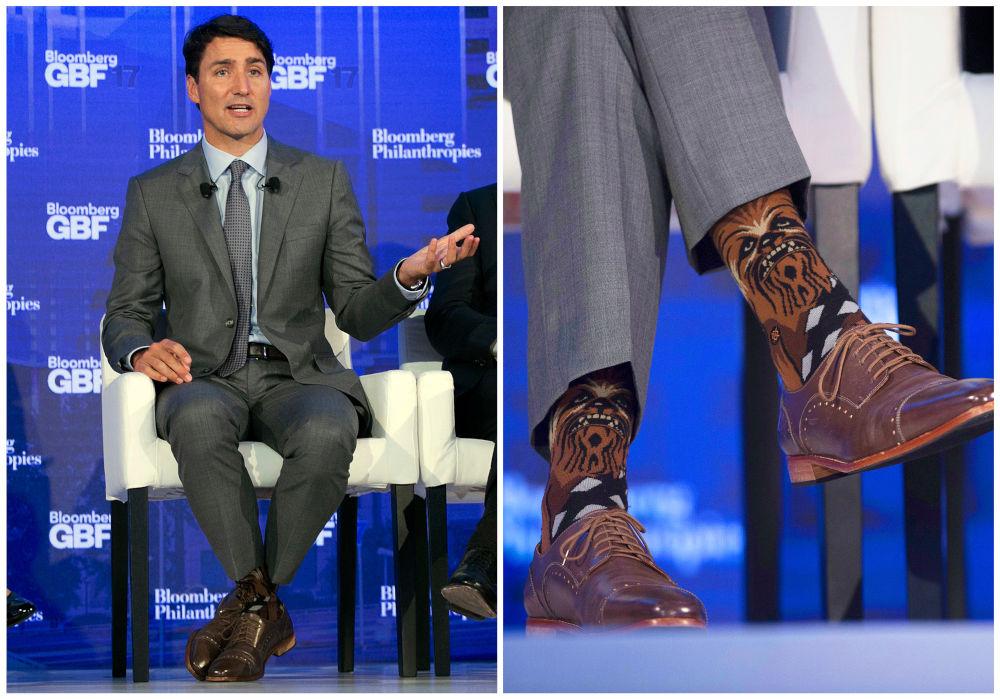 Ο Τσουμπάκα στις κάλτσες του Τζάστιν Τριντό