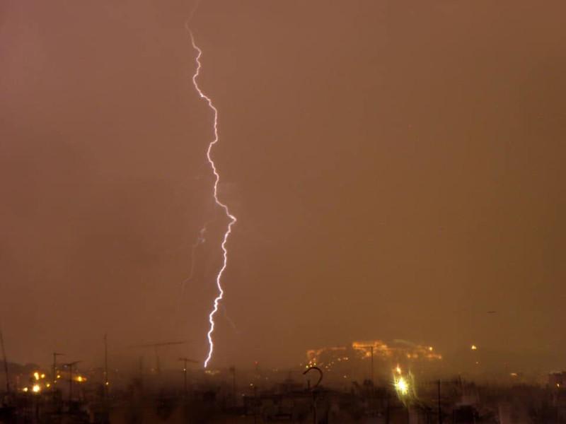Εικόνα από την κακοκαιρία που «κόβει την ανάσα» / Φωτογραφία: forecast weather_Facebook