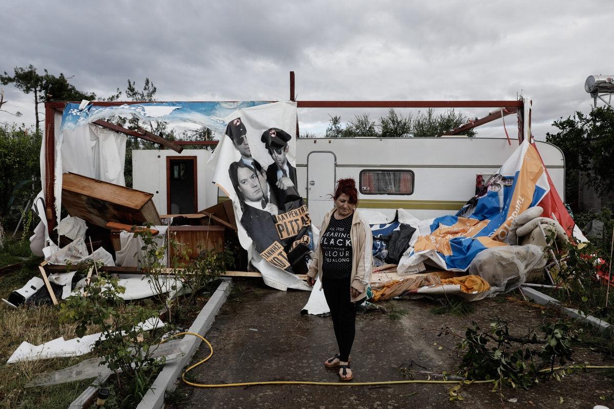 Μεγάλες οι καταστροφές σε περιοχές της Χαλκιδικής / Φωτογραφία: Sooc